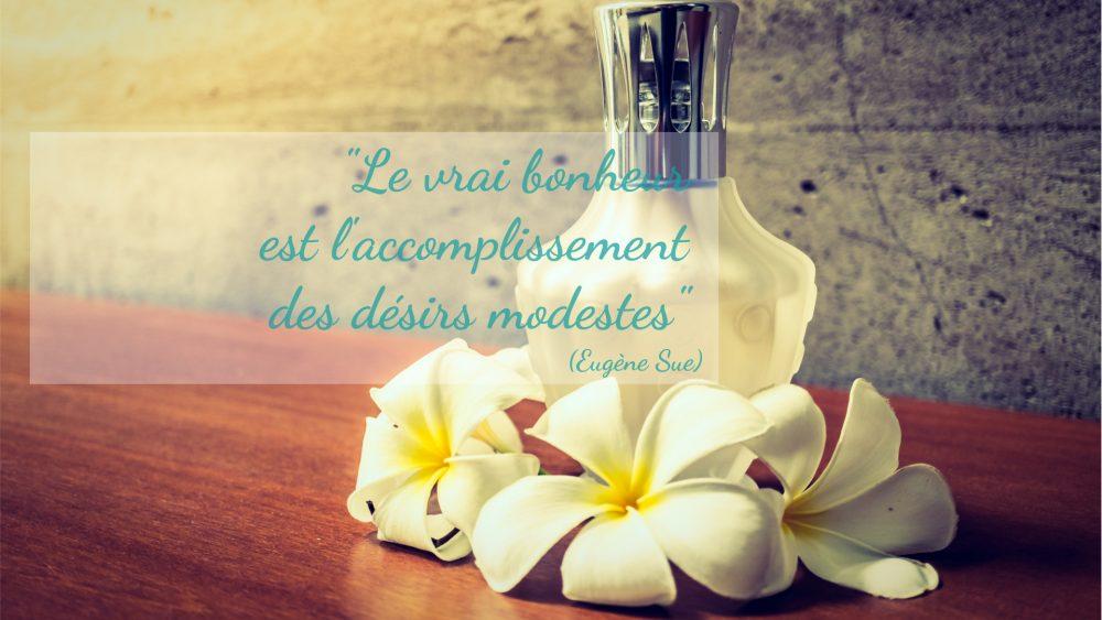 """Massage Lomi-lomi : """"Le vrai bonheur est l'accomplissement des désirs modestes"""" de Eugène Sue."""