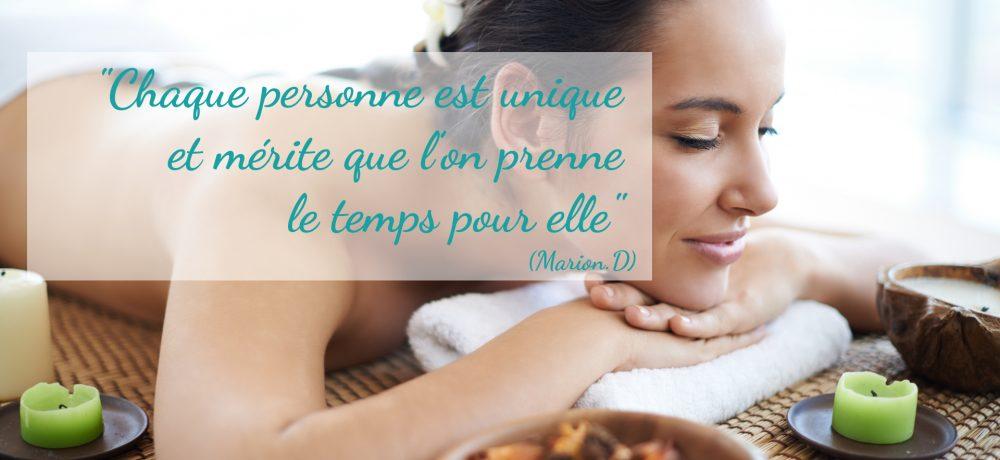 """Massages et Formules Plume de Soi : """"Chaque personne est unique et mérite que l'on prenne le temps pour elle"""" de Marion.D"""